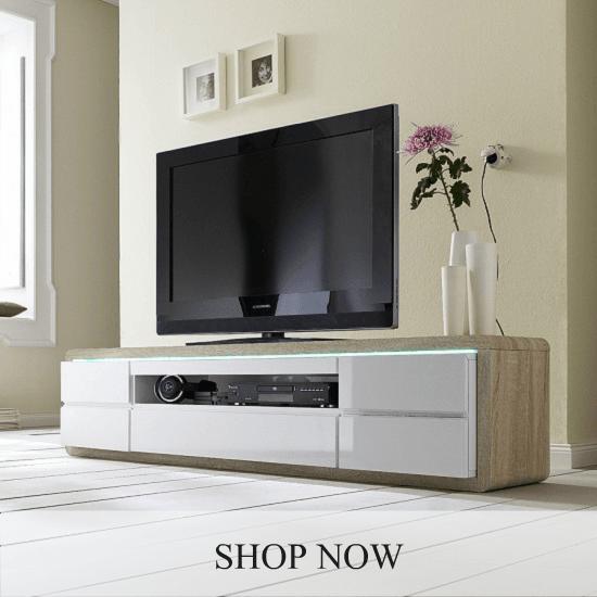 TV Stands Glass TV Cabinets Amp Units Furnitureinfashion UK