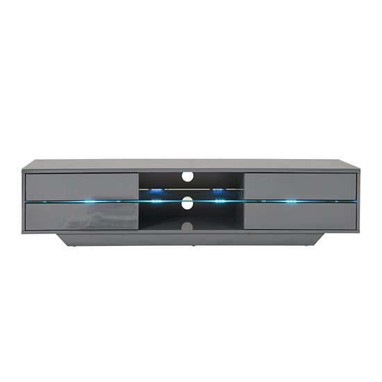 Sienna TV Stand In Grey High Gloss With Multi LED Lighting_11