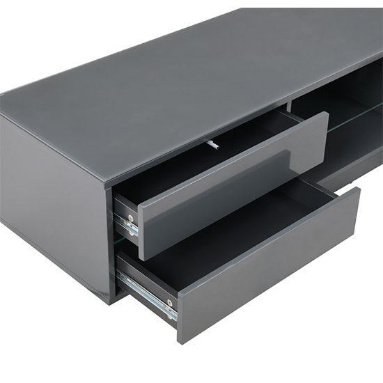Sienna TV Stand In Grey High Gloss With Multi LED Lighting_5