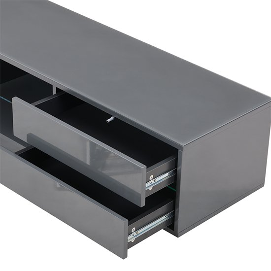 Sienna TV Stand In Grey High Gloss With Multi LED Lighting_8