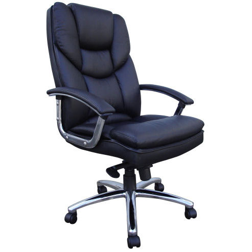 Skyline LuxuryLeather Chair Black - How To Choose Best Office Chairs For Back Problems: 6 Important Aspects To Focus On