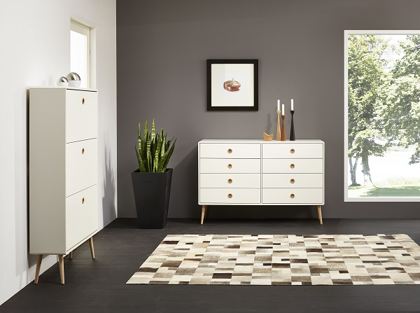 Walton Chest of Drawers In White And Oak Legs With 8 Drawers_6