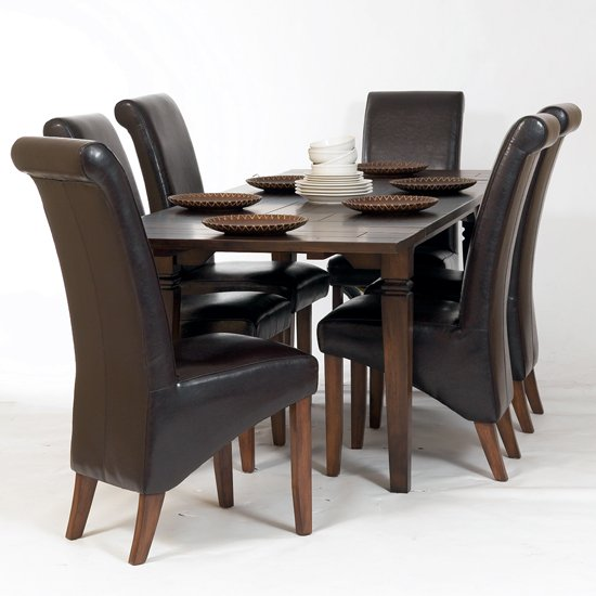Soho Wooden Extending Dining Table With 6 Chairs Chair