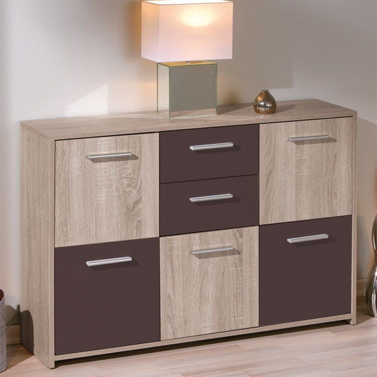 Madrid wenge low sideboard for go - Sideboard wenge ...