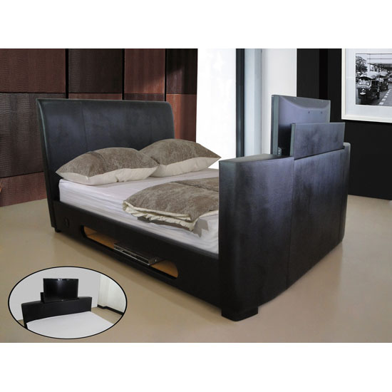 Photo of Sonic faux leather tv bed