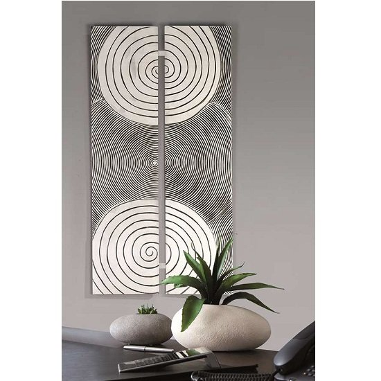 Read more about Sphere wall painting rectangular in antique silver