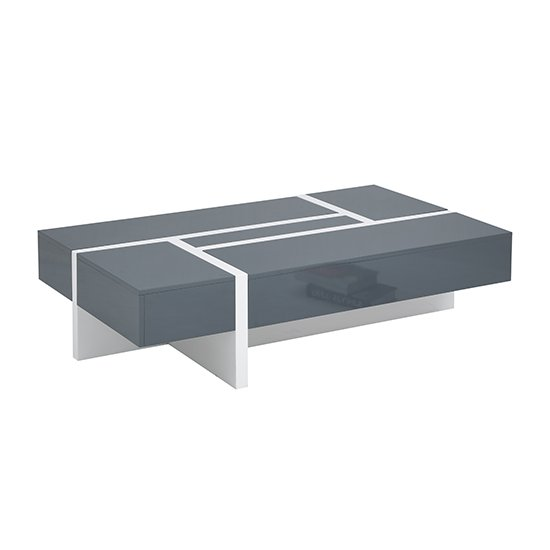 Storm Storage Coffee Table In Grey And White High Gloss_6