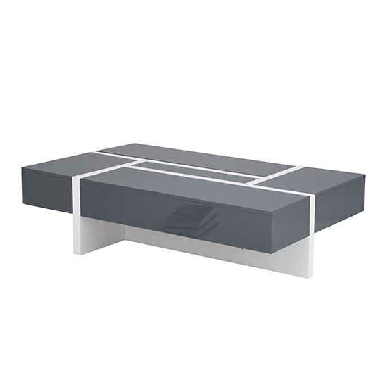 Storm Storage Coffee Table In Grey And White High Gloss_7