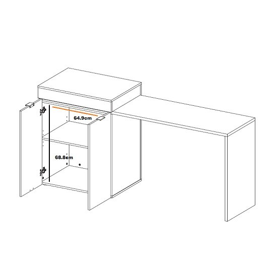 Multifunction Computer Desk In Oak With Extendable Table_3