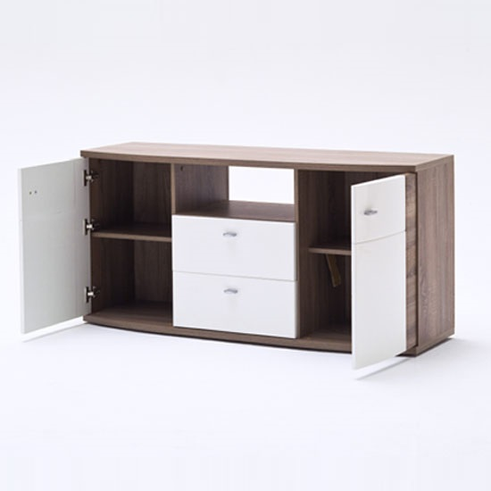 Kaunas Living Room Furniture Set In White Gloss Front And Oak_9