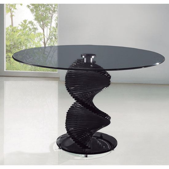 Dining Table Swirl Round Glass Table