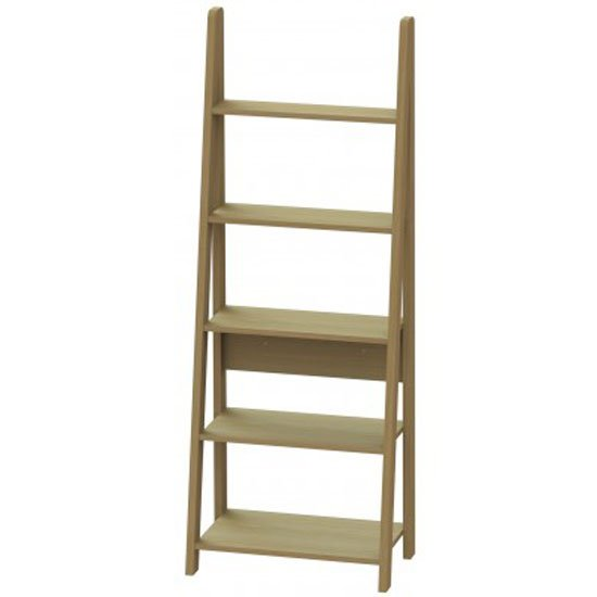 Paltrow Bookcase In Oak With Ladder Style