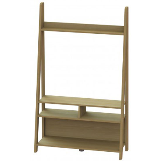 Paltrow Entertainment Unit In Oak With Ladder Style