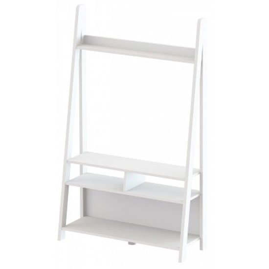 Paltrow Entertainment Unit In White With Ladder Style