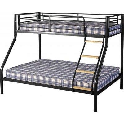 Toby Triple Sleeper Metal Bunk Bed in Black