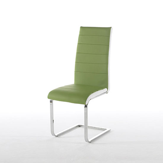 Top Green Faux Leather Dining Chair Furniture in