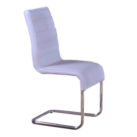 toulouse white faux leather dining chair 21908 furniture in. Black Bedroom Furniture Sets. Home Design Ideas
