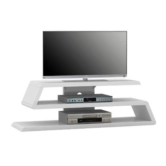 Louisiana White High Gloss Finish Plasma TV Stand 22907 : TV RACK 1629 WHITE Gloss MA from www.furnitureinfashion.net size 550 x 550 jpeg 16kB