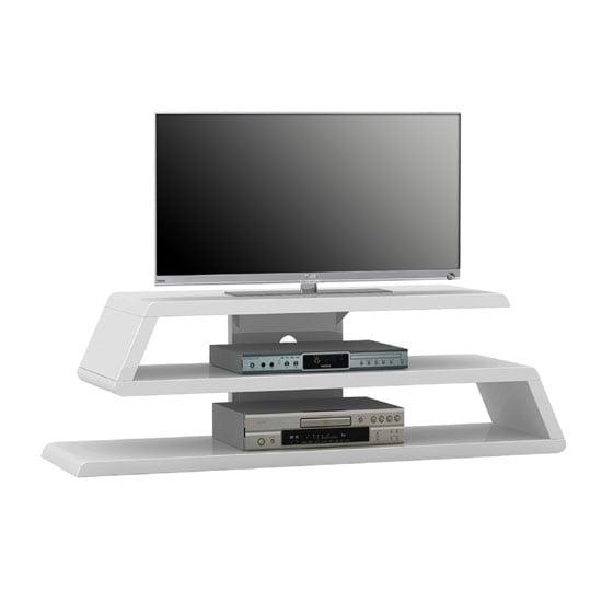 Louisiana white high gloss finish plasma tv stand 22907 for White plasma tv stands