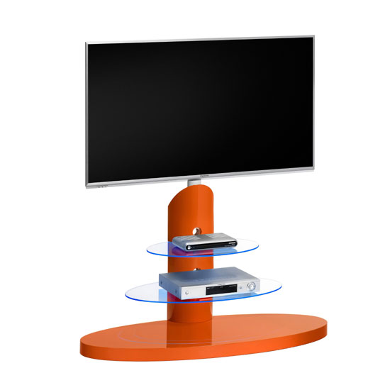 TV RACK 1636 PestalRed Glos - How To Make Height Adjustable TV Stands For LCD TVs Work In Your Living Room