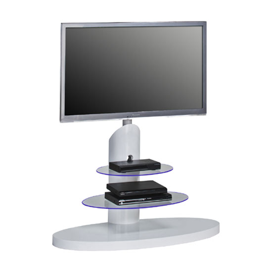 Marzouk White High Gloss Finish LCD TV Stand With LED Light
