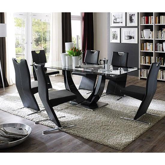 Toscana White High Gloss Coffee Table: Lexus High Gloss Black Glass Sideboard 13181 Furniture IN Fa