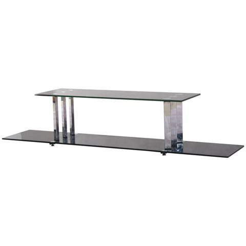 Venice Black Glass LCD TV Stand