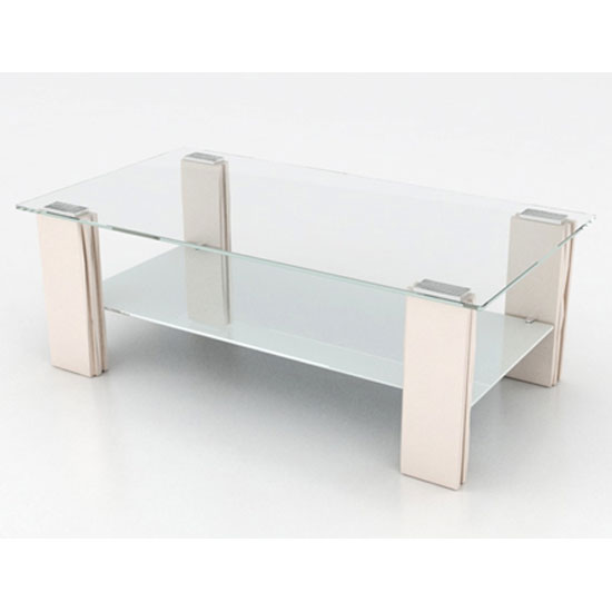 Glass coffee tables wood metal furniture in fashion for Cream glass coffee table