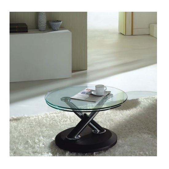Tokyo Clear Glass Top Coffee Table In Black 197 Furniture