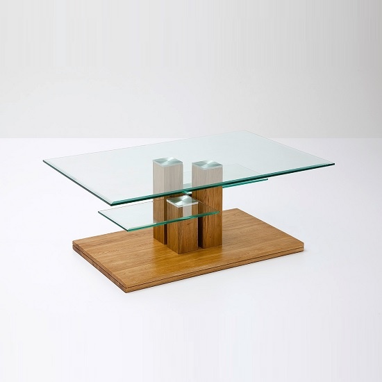 Oak Coffee Table With Glass Shop For Cheap Tables And Save Online