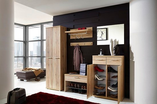 Elina Shoe Cabinet In Sanremo Oak With 2 Doors and 2 Drawers_6