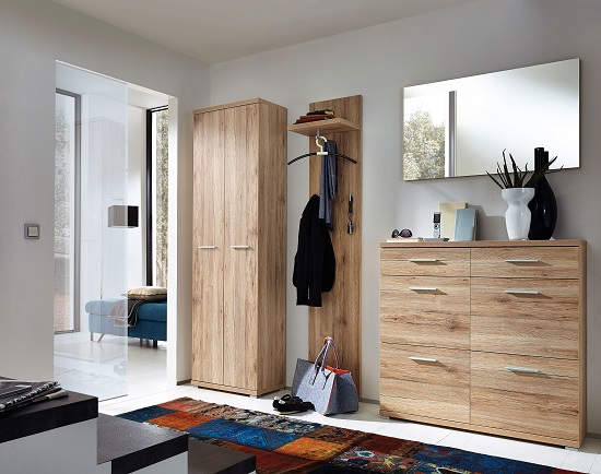 Elina Wardrobe in Sanremo Oak With 2 Doors_5