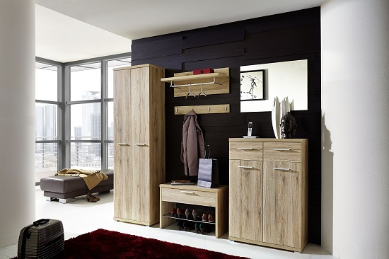 Elina Shoe Cabinet In Sanremo Oak With 2 Doors and 2 Drawers_5