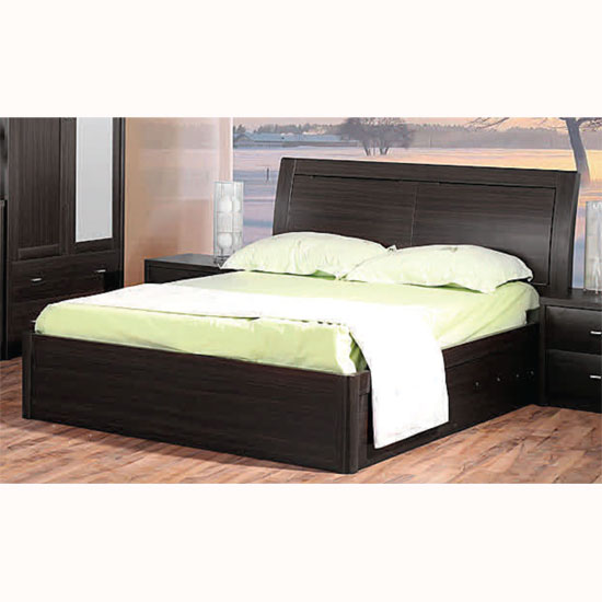 Torino Double Bed in Coffee Colour