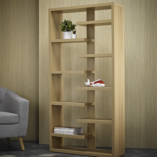 Toronto Shelving Unit In Solid Oak_2