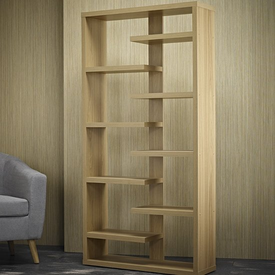 Toronto Shelving Unit In Solid Oak