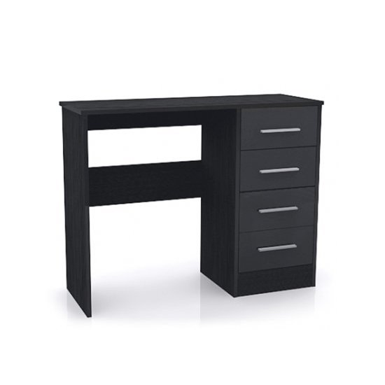 Black Computer Desk with Drawers 550 x 550
