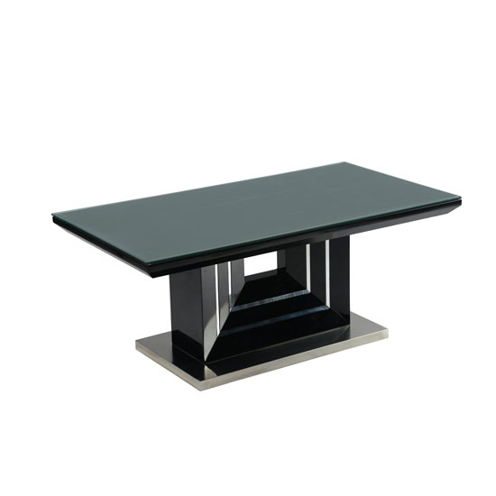 Best Palma Black High Gloss Coffee Table With Clear Glass Top IV91
