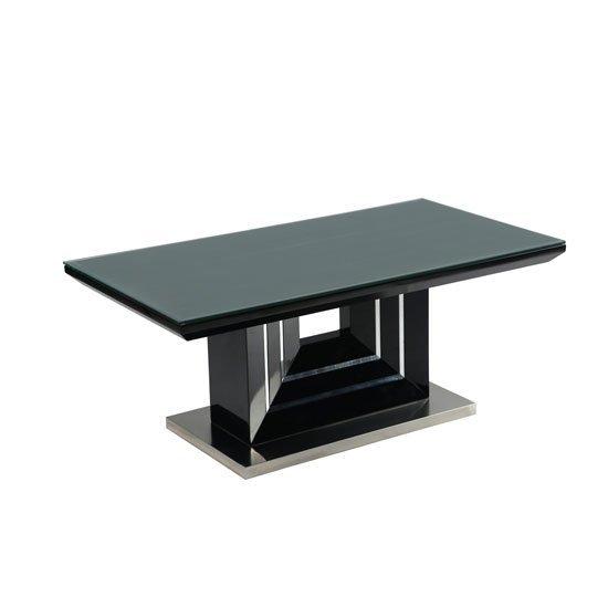 Palma Black High Gloss Coffee Table With Clear Glass Top