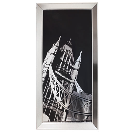 Tower Bridge Metallic Framed Print, 002410