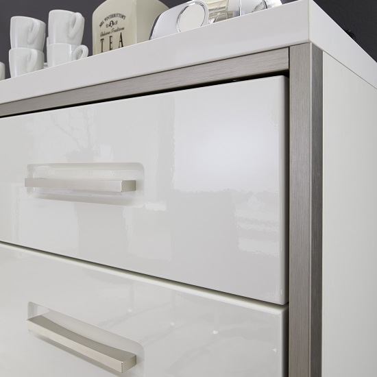 Libya Wall Mounted Display Cabinet In White Gloss With LED Light_4