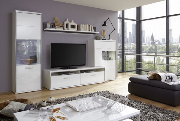 Libya Living Room Set 6 In White High Gloss With LED Lighting_8