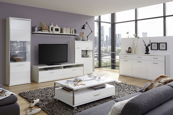 Libya Living Room Set 6 In White High Gloss With LED Lighting_10