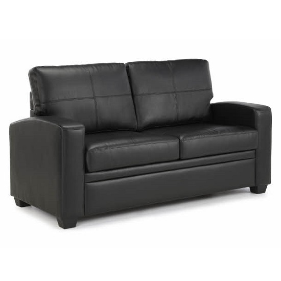Catalina Modern Sofa Bed In Black Faux Leather