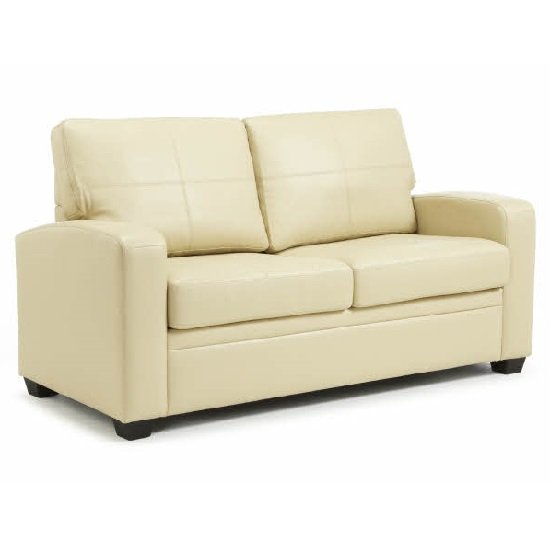 Buy cheap cream leather sofa bed compare sofas prices for Cheap modern sofas uk