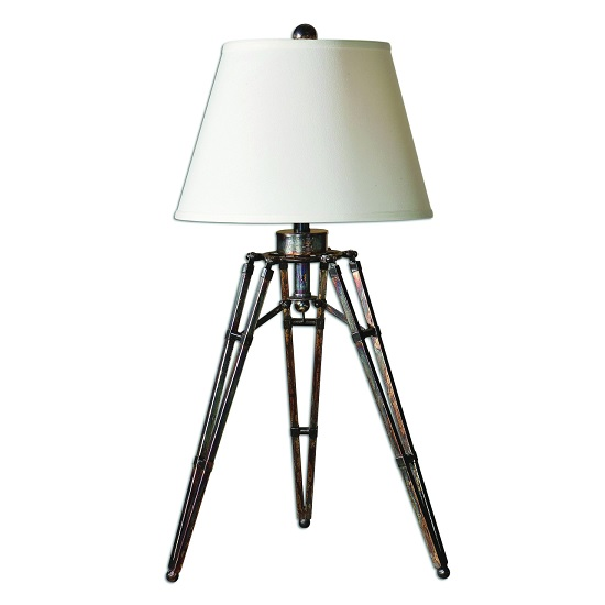Matera Contemporary Table Lamp In Off White With Tripod Base