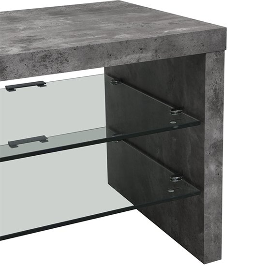 Staten Metal Set Of 3 Nesting Tables In Concrete Effect_4
