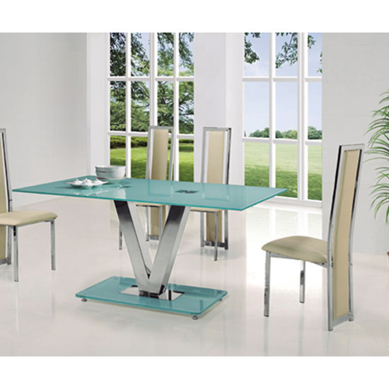 venus large frosted glass dining table only 21832 furniture