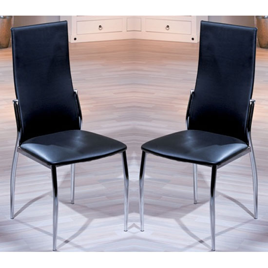 Delta Black Dining Room Chair In A Pair