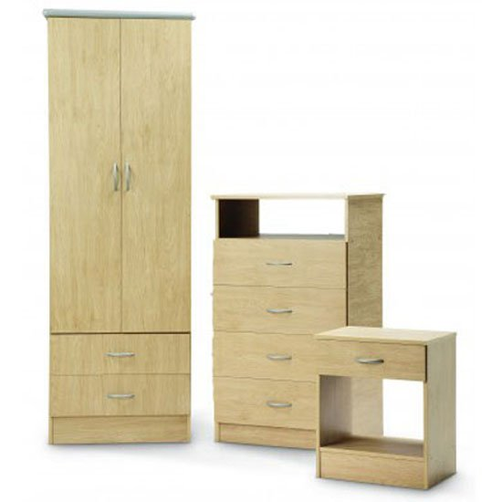 Read more about Vermont oak finish wooden bedroom set